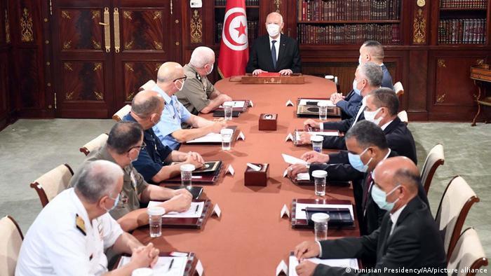 Präsident Kais Saied im Palast von Karthago in Tunis