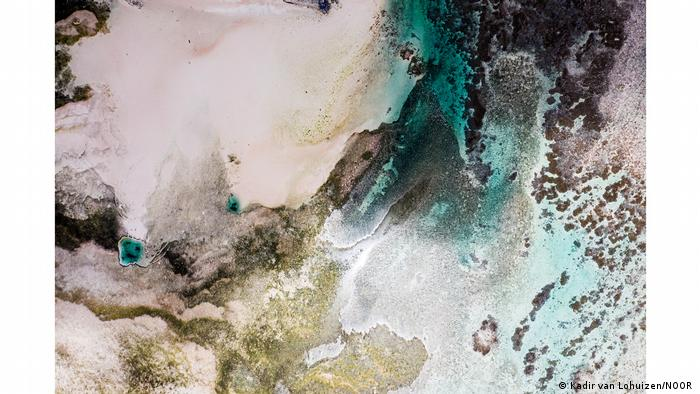 Vista aérea de las islas Marshall.