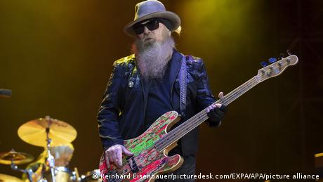 ZZ Top's Dusty Hill during a performance in 2019.
