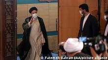 TEHRAN, IRAN - JUNE 21: Iranian President-Elect Ebrahim Raisi holds a press conference at Shahid Beheshti conference hall in Tehran, Iran on June 21, 2021. Fatemeh Bahrami / Anadolu Agency