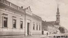 Historisches Bild der Stadt Glina, Kroatien.