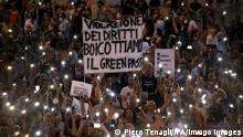 28/07/2021*** News Bilder des Tages Rome, Demonstration against the compulsory Green Pass organized by the Free Choice Committee, in Piazza del Popolo Pictured: PUBLICATIONxINxGERxAUTxONLY Copyright: xPieroxTenaglix/xIPAx/xPieroxTenaglix