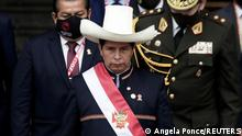 28/07/2021*** Peru's President Pedro Castillo walks out the Congress after his swearing-in ceremony, in Lima, Peru July 28, 2021. REUTERS/Angela Ponce TPX IMAGES OF THE DAY
