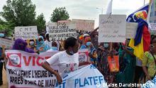 29.07.2021 Demo von dem Anhänger der NGO Wakit-Tama - Heute in NDjamena