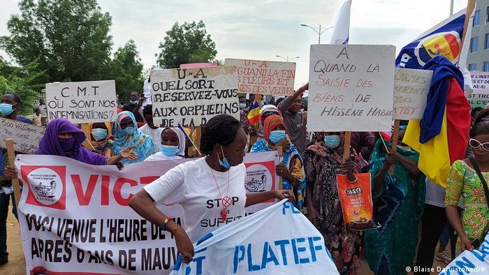 Tschad N'Djamena   Demonstration von Anhängern der NGO Wakit-Tama