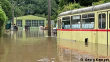 Überflutungsschäden im Wuppertaler Straßenbahnmuseum