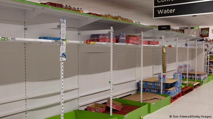 London | Leere Regale im Supermarket (23.07.2021)