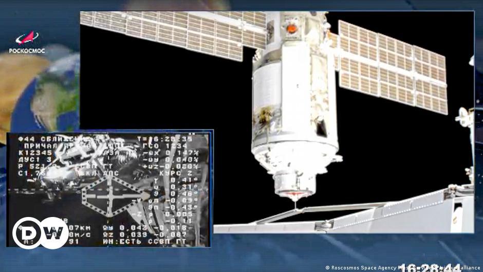 Russia's Nauka science module docks with ISS