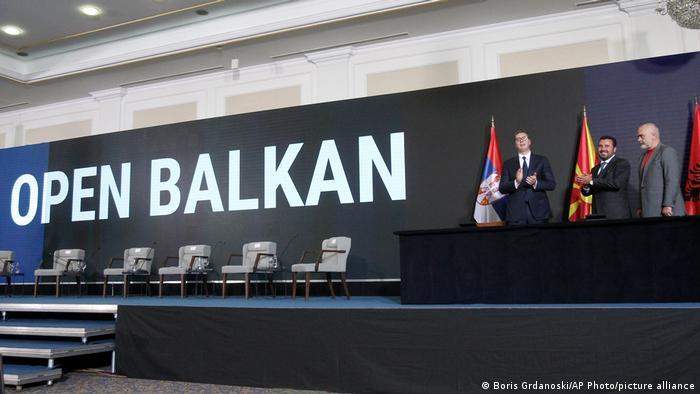 Встреча Александара Вучича, Зорана Заева и Эди Рамы в Скопье в рамках инициативы Открытые Балканы