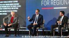 Nord-Mazedonien Skopje | Wirtschaftsforum | Edi Rama, Aleksandar Vucic und Zoran Zaev