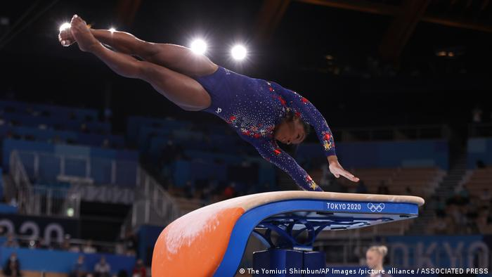 Simone Biles at the Olympics in Tokyo