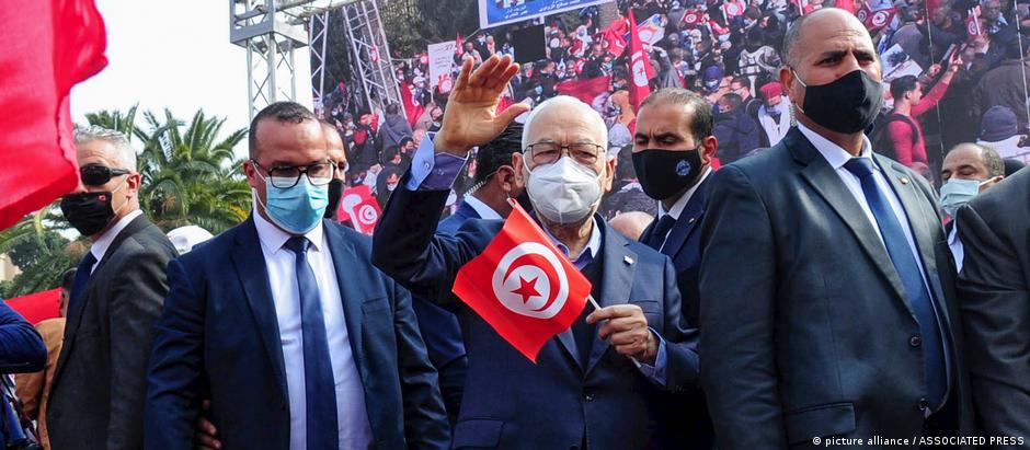 Tunesien Tunis | Proteste | Rached Ghannouchi