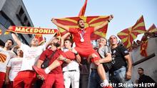 Nordmazedoniens Olympia-Medaillengewinner Dejan Georgievski (Taekwondo) wurde am Donnerstag (29.07.2021) in Skopje feierlich empfangen.