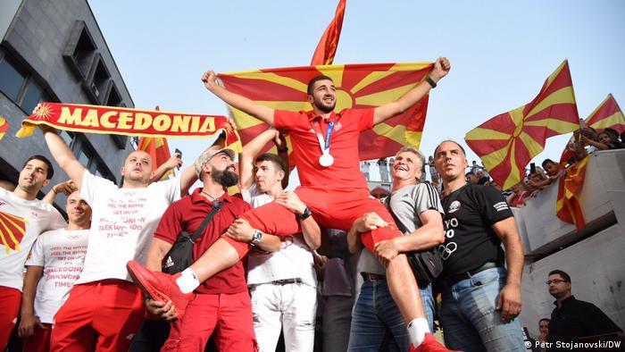 Nord-Mazedonien Skopje | Olympia-Medaillengewinner Dejan Georgievski wird feierlich empfangen