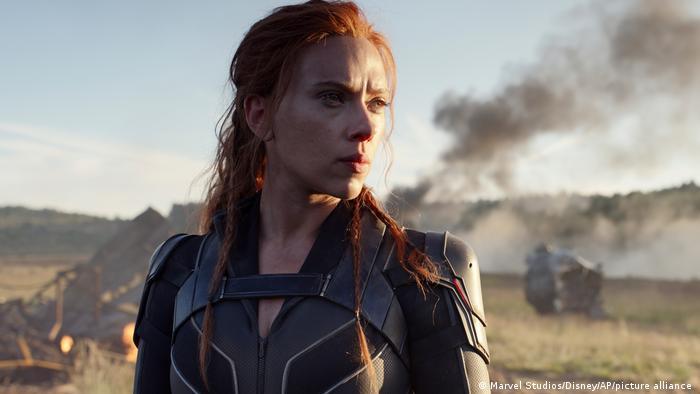 Scarlett Johansson in a scene from 'Black Widow'