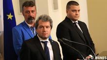 Toshko Yordanov und andere Mitglieder der bulgarischen Partei Es gibt ein solches Volk © BGNES