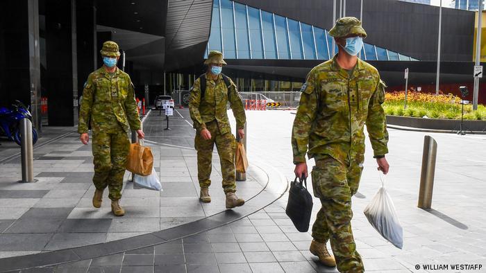Australian soldiers in Melbourne