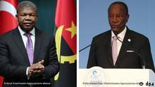 Kombo mit dem Präsidenten von Angola, João Lourenço, und dem Präsidenten von Guinea Conakry, Alpha Condé