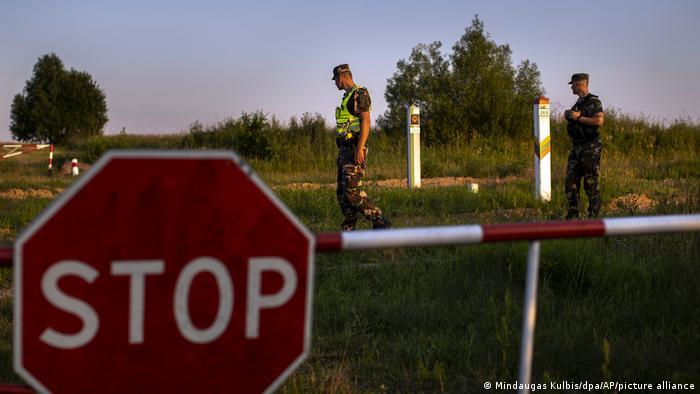 На кордоні між Литвою та Білоруссю