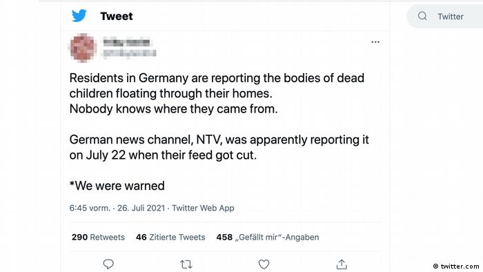 Tweet zu der angeblich abgebrochenen Berichterstattung
