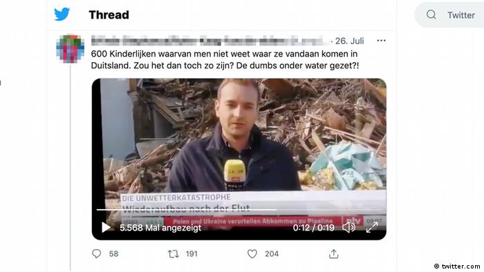Verschwörungen um NTV Nachrichtenbeitrag