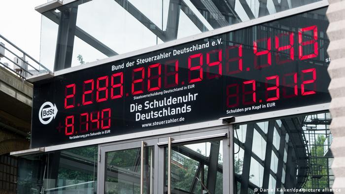 Schuldenuhr Deutschlands I Berlin