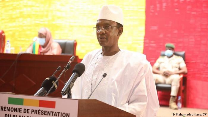 Le premier ministre de transition malien Choguel Kokalla Maïga lors de la présentation de son plan d'action.