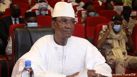 Le Premier ministre du Mali, Chaguel Kokala Maïga devant les membres du CNT à Bamako