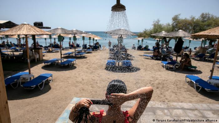 На пляжі неподалік від Афін