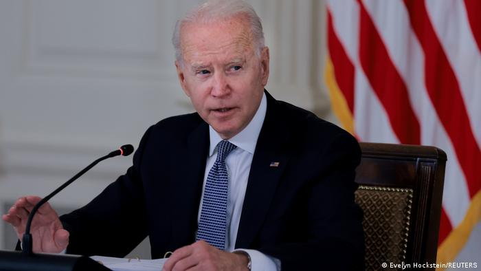 US President Joe Biden speaks after meeting with Cuban-American leaders at the White House