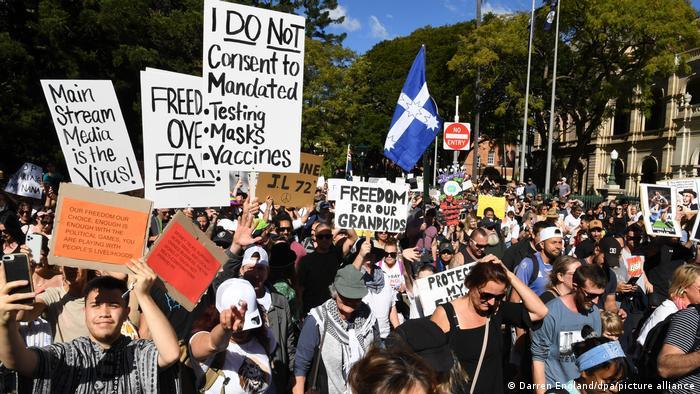 Coronavirus - Proteste in Australien