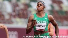 Nigerian sprinter Blessing Okagbare