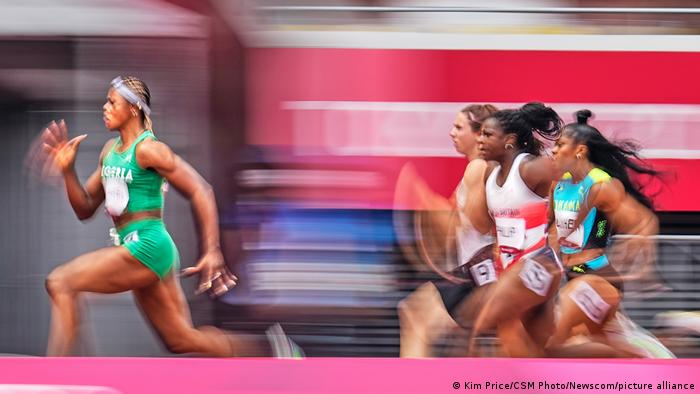 100 meter heats on Day 6 of the Olympics