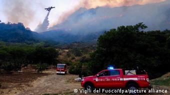 Ιταλία, Σικελία, πυρκαγιές, καύσωνας,