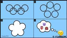 Depresión olímpica Karikatur von Vladdo vom 31.07.2021