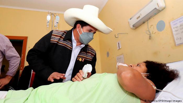 President Pedro Castillo visits a hospital