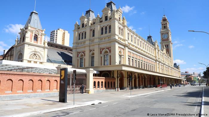 Prédio do Museu da Língua Portuguesa de São Paulo