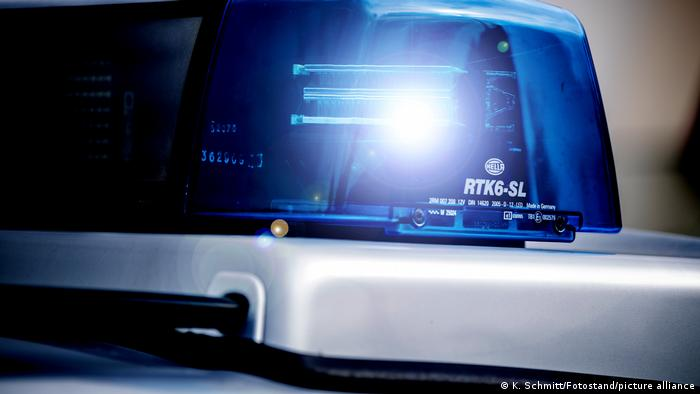 Image of a blue light on a police cruiser