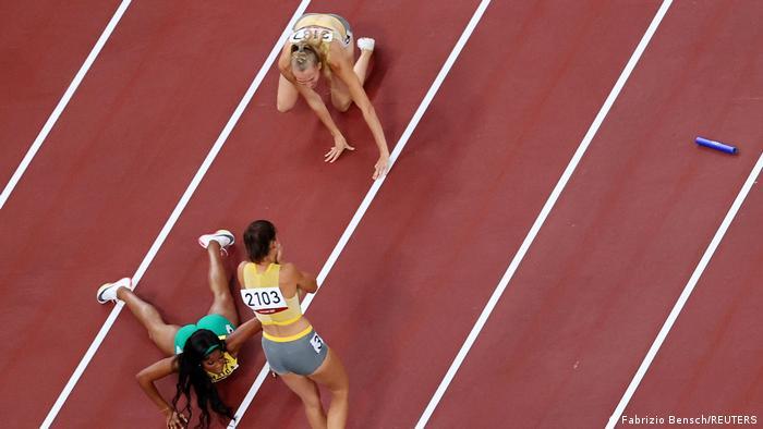 Tokio 2020 | Mixed-Staffel 4x400 m | Deutsches Team stürtzt
