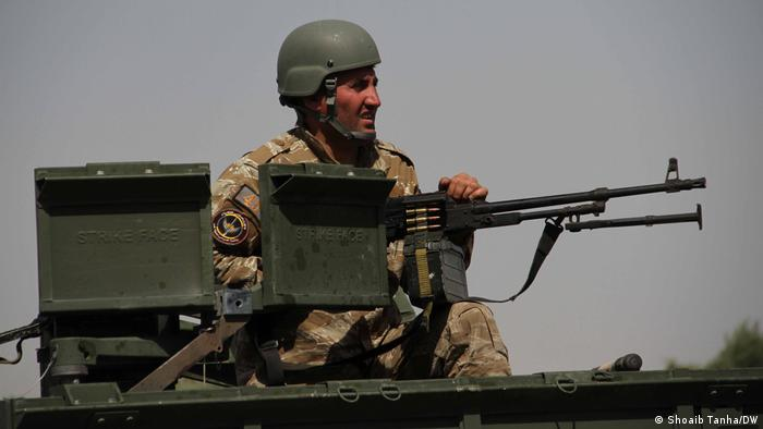 Afghan soldier photographed in Herat Province