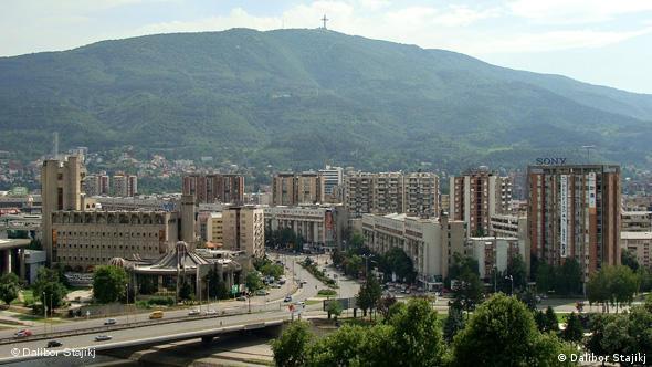 Panoramablick über Skopje Flash-Galerie