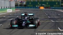 Formula One F1 - Hungarian Grand Prix - Hungaroring, Budapest, Hungary - July 31, 2021 Mercedes' Lewis Hamilton qualifies in pole position Pool via REUTERS/David W Cerny