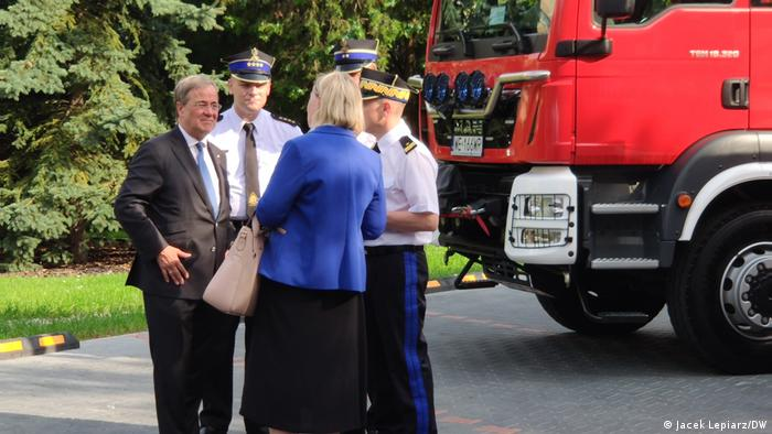 Lachet z wizytą w Komendzie Głównej Straży Pożarnej