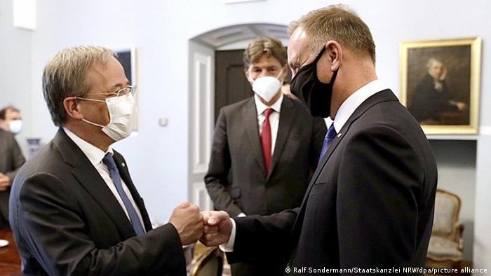 Laschet spotkał się w sobotę z prezydentem RP Andrzejem Dudą