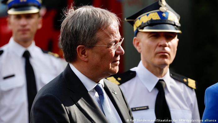 Кандидат в канцлеры ФРГ от консерваторов Армин Лашет с визитом в Польше