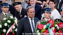 Polen Warschau Armin Laschet Denkmal Kranzniederlegung
