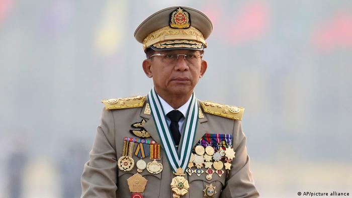 Pemimpin junta militer Myanmar, Min Aung Hlaing. (27/3/2021)