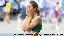 July 11, 2019 - Napoli, Campania, Italy - TSIMANOUSKAYA Krystsina of Belarus first classified in the Women's 200m Final during day 10 of the Napoli 2019 Summer Universiade. (Credit Image: © Ernesto Vicinanza/SOPA Images via ZUMA Wire