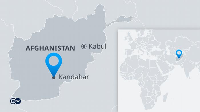 Infografik Karte Afghanistan mit Kandahar DE