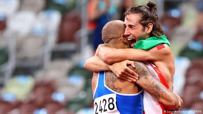 Olympia 2020 Tokio | Finale 100m | Lamont Marcell Jacobs und Gianmarco Tamberi